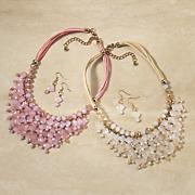 Beaded Bib Necklace/Earring Set