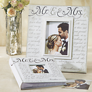 mr    mrs  photo book and frame