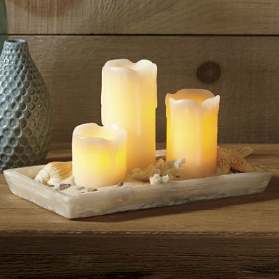 Set of 3 Mini Candle Pillars