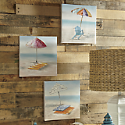 Set of 3 Beach-Front Paintings