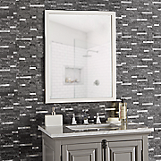 Set of 8 Faux-Marble/Metal Self-Stick Wall Tiles