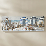 3-D Beach House Canvas