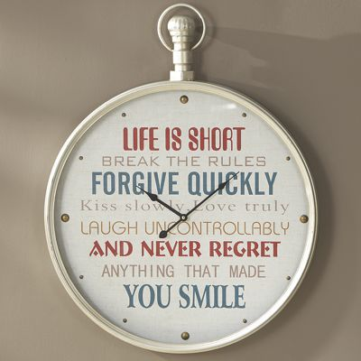 Life Is Short Clock