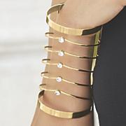 rhinestone wire cuff