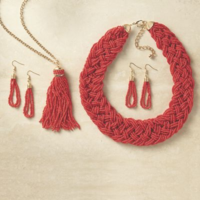 Beaded Necklace and Earring Sets