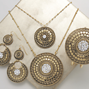 Crystal/Medallion Necklace