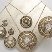 Crystal Medallion Necklace vb