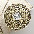 Crystal/Medallion Bangle