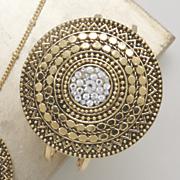 crystal medallion bangle
