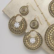 Crystal Medallion Earrings vb