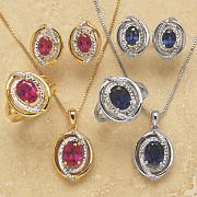 Created-Gemstone and Diamond Jewelry Set