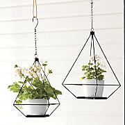 Set of 2 Geometric Flower Pot Holders