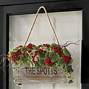 personalized geranium wall basket