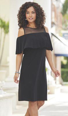 Keira Ruffle Open-Shoulder Dress