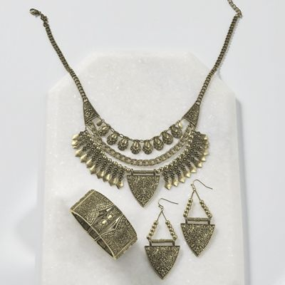 Eclectic Necklace and Earrings
