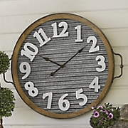 Metal Clock Décor