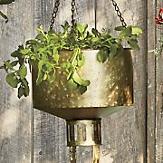 Galvanized Hanging Planter