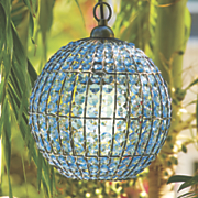 outdoor crystal ball chandelier