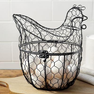 Chicken Wire Hen Basket