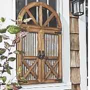 arched galvanized gate