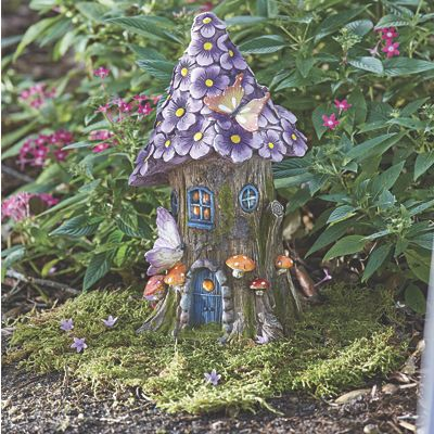 Fairy House with Purple Roof