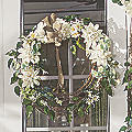 Cream Dahlia Wreath