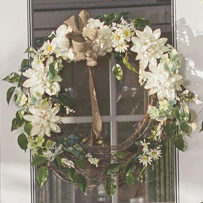 Cream Dahlia Wreath