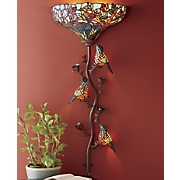 Stained Glass Bird Sconce
