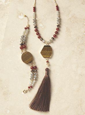 Tiger Eye Bracelet and Necklace