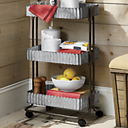 3-Tier Corrugated Metal Cart