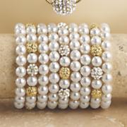 crystal pave ball bracelet
