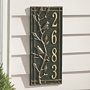vertical address plaque