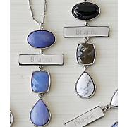 personalized silvertone pendant