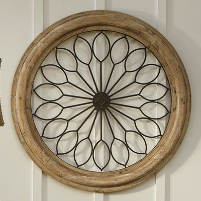 Round Wood/Metal Wall Décor