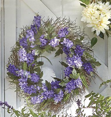 Lavender Spiral Vine Wreath
