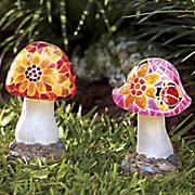 Mosaic Mushroom Solar Light
