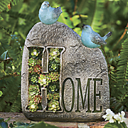 Home Sign with Sitting Birds