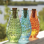 set of 3 lit wish bottles