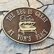 personalized  bbq is great  plaque