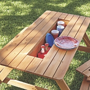 picnic table with storage