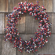 Red, White & Blueberry Wreath