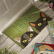 meow indoor outdoor mat   1  8  x 2  6