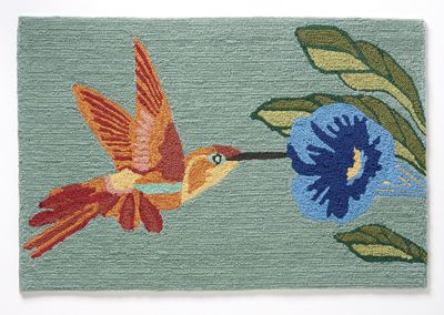 "Hummingbird Sky Indoor/Outdoor Mat - 1' 8"" X 2' 6"""