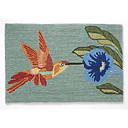 hummingbird sky indoor outdoor mat   1  8  x 2  6
