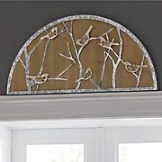 metal bird half moon decor