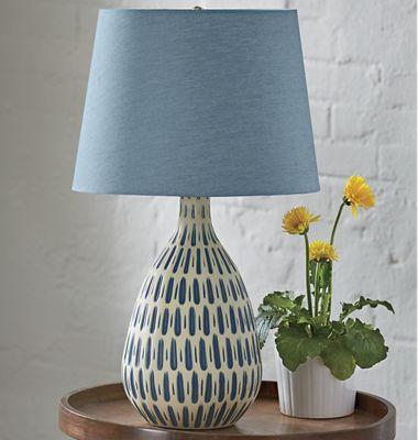 Denim Shade Table Lamp
