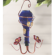 Cobalt Blue Hummingbird Feeder