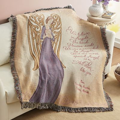 Angel Personalized Tapestry Throw