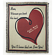Heart Personalized Tapestry Throw