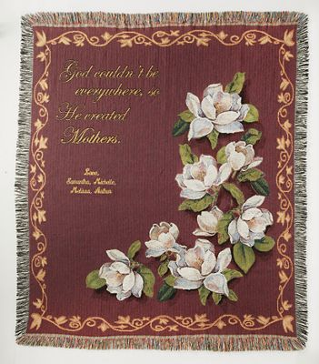 Magnolia Personalized Tapestry Throw